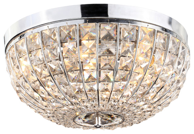 Barrow Flush Mount Crystal Ceiling Light.
