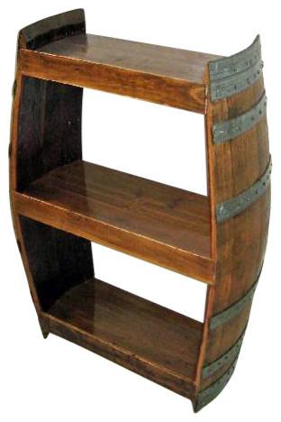 Barrel Wine Shelf Handcrafted From Reclaimed