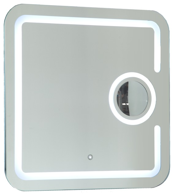 Lighted Bathroom Mirrors Magnifying: Vanity Art LED Lighted Bathroom Mirror With Touch Sensor and Magnifying  Glass modern-bathroom-,Lighting