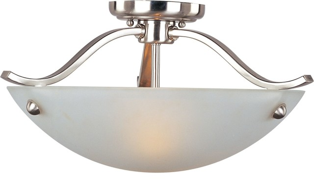 Maxim 21261 Contour 2-Light Semi-Flush Ceiling Fixture.