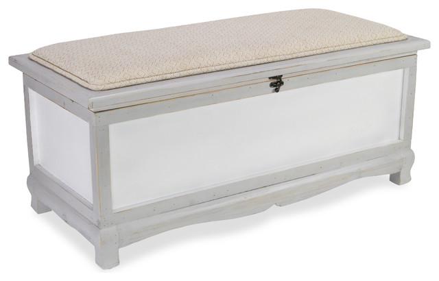 Admirable Gray Storage Bench Linen Seat Cushion Top Machost Co Dining Chair Design Ideas Machostcouk