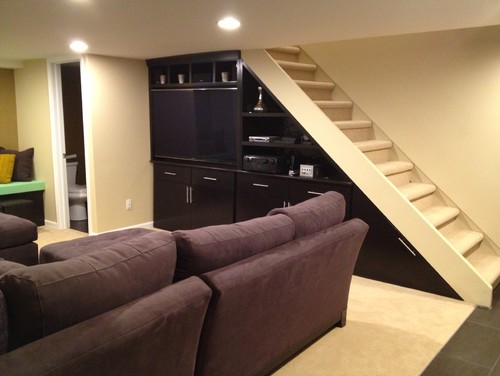 Lighting Basement Washroom Stairs: Best Use Of Space Under The Basement Stairs