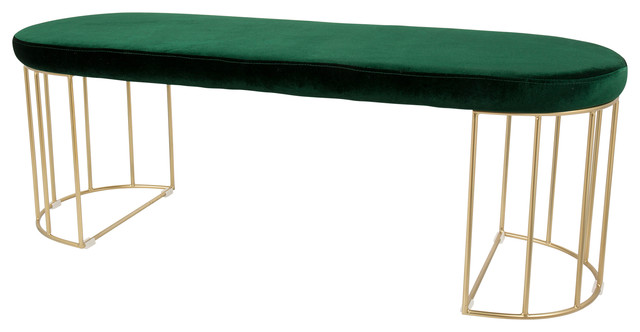 Awe Inspiring Canary Contemporary Dining Entryway Bench Gold Green Squirreltailoven Fun Painted Chair Ideas Images Squirreltailovenorg
