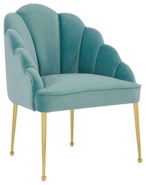 Daisy Petite Sea Blue Velvet Chair