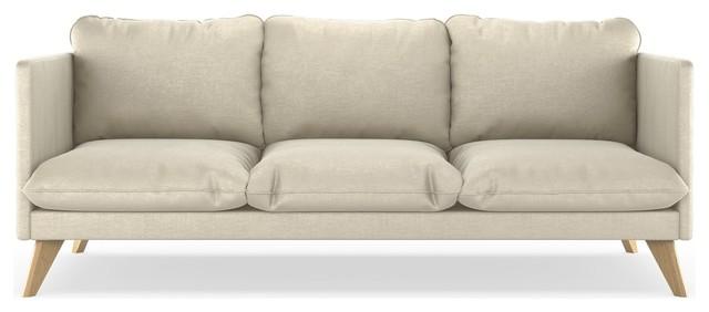 Teagan Sofa Mod Velvet, Vanilla.
