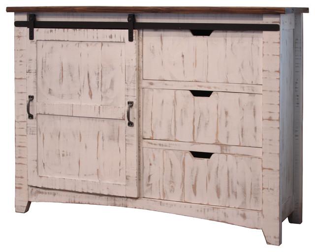 Anton Sliding Barn Door Entry Sofa Table Industrial Dressers By Burleson Home Furnishings