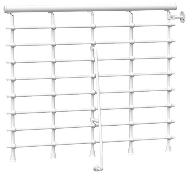 "Oak .xtra Balcony Rail Kit 47"", White."