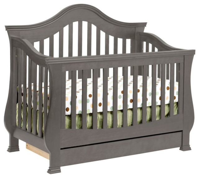 Million Dollar Baby Clic Ashbury 4 In 1 Convertible Crib Manor Grey