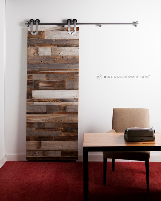 Reclaimed Barn Wood Horizontal Slat Barn Door Rustic