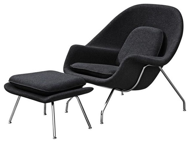 Aron Living Haven Lounge Chair, Black.