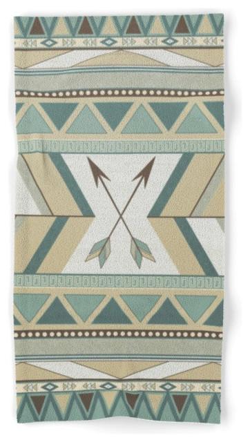 Society6 aztec pattern a towel southwestern bath for Southwestern towel bars