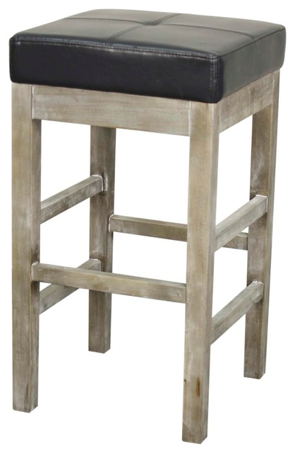 Valencia Backless Counter Stool With Mystique Gray Legs