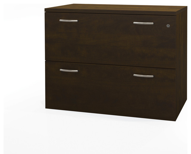 "Shop Houzz | Bestar 36"" Chocolate Premium Locking Lateral File - Filing Cabinets"