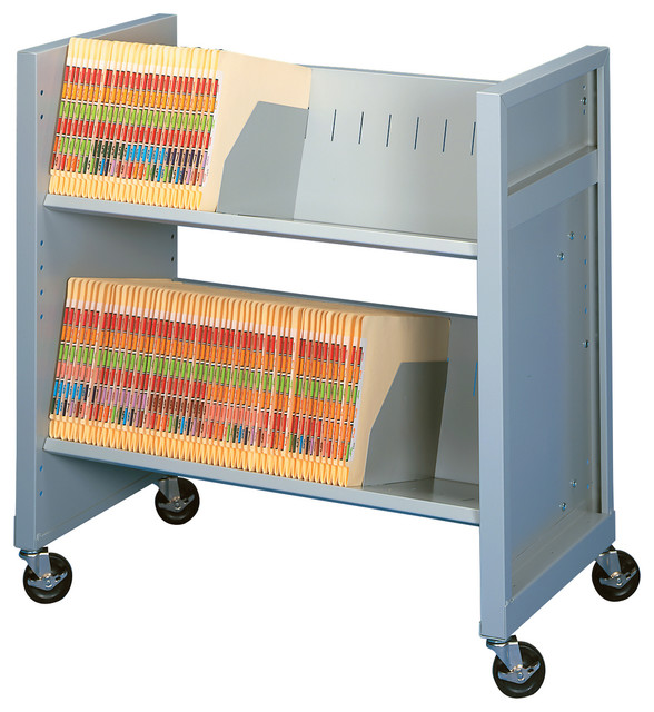 Basic File Cart, 2 Letter/Legal Size Shelves - Contemporary - Filing Cabinets - by Datum Storage ...