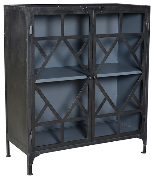 Gunmetal Geo Side Cabinet