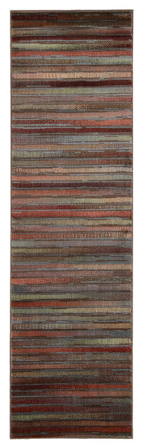 Hermia Striped Runner Rug, 2&x27;3x8&x27;.