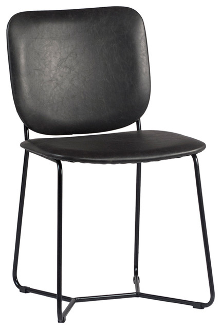 Surprising Leather Scoop Back Dining Chair Gmtry Best Dining Table And Chair Ideas Images Gmtryco