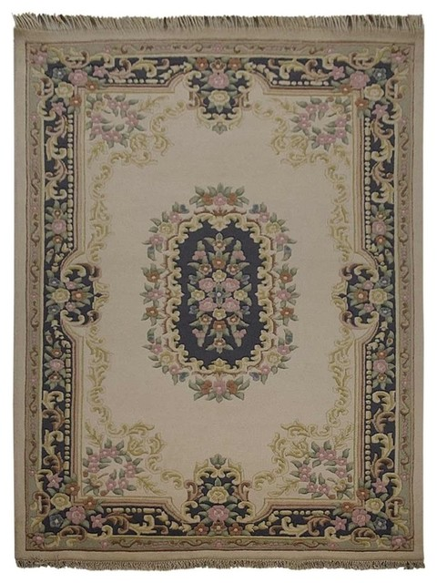 Rugsotic Carpets Hand Knotted Aras Woolen Oriental Area