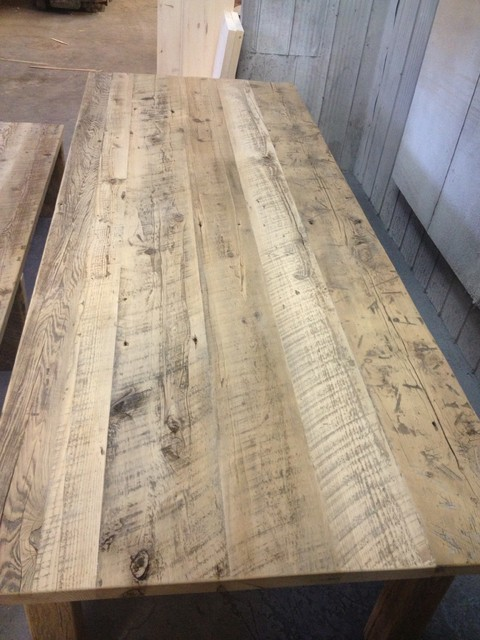 Barn Board Harvest Dining Table Rustic