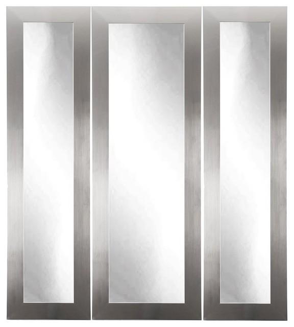 Brandtworks Modern Silver Vanity Tri Fold Mirror 24 Quot X47 5