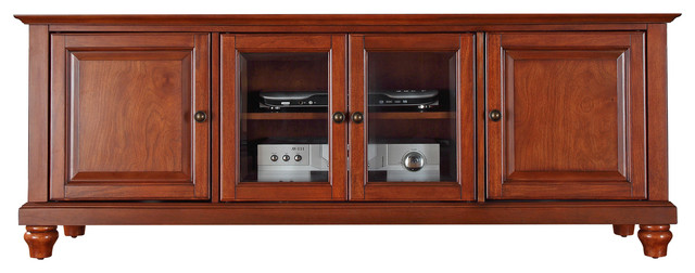 "Cambridge 60"" Low Profiletv Stand, Classic Cherry Finish."