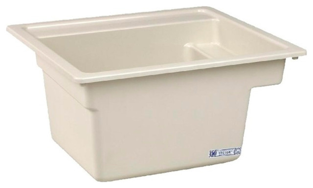 Mustee, Bathroom Sink, Biscuit, 25x22x13.