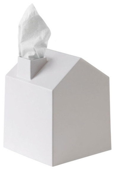 Casa Tissue Box Cover, White.