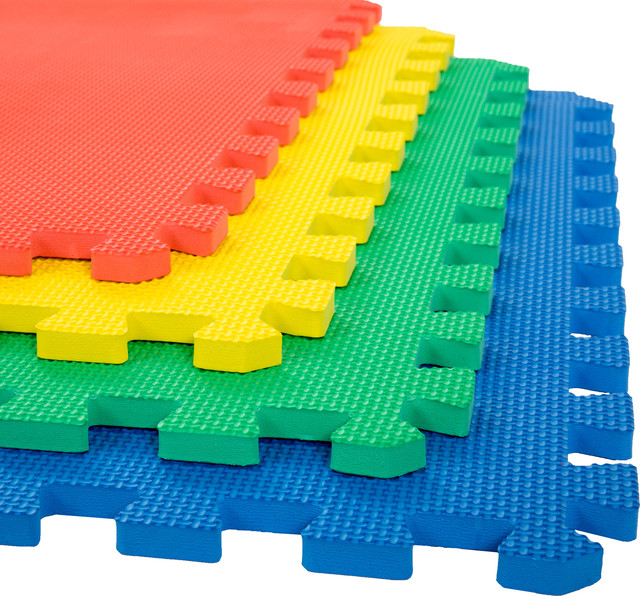 Nice Stalwart Interlocking EVA Foam Floor Mats Multi Color 24x24x.5, Set Of 4  Industrial