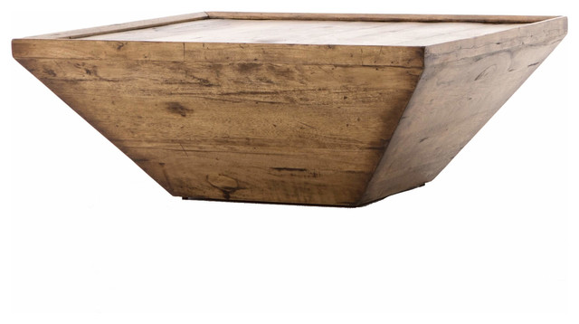 Abby Rustic Reclaimed Wood Square Coffee Table 42 Tables By Zin Home