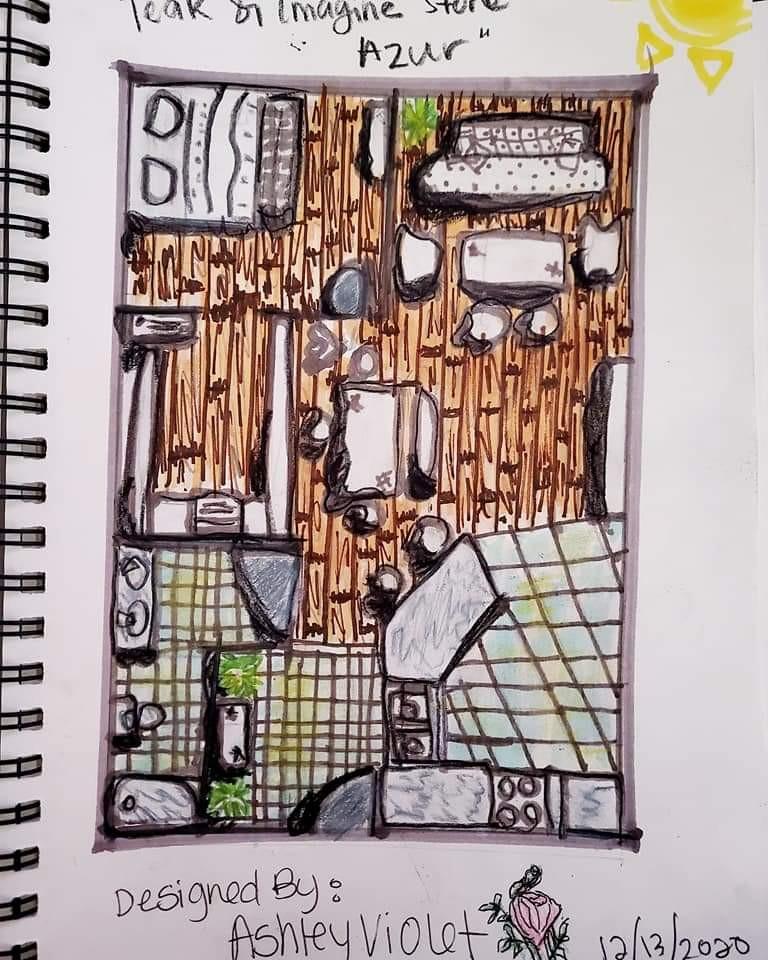 Emphasis on Flooring, an Industrial Floor-Plan Sketch