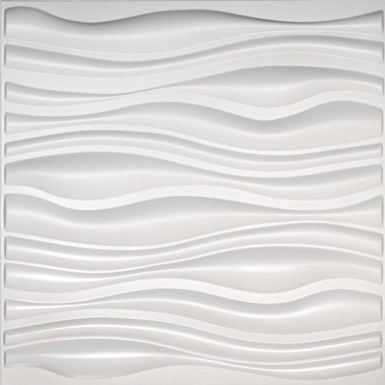 Easy Peel & Stick 3d Wall Panel, Gapless Serene Design, 12 Panels, 32 Sq.ft..
