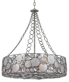 Crystorama Palla 8-Light Antique Silver Chandelier - Beach ...