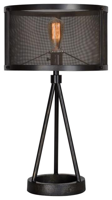 Livingstone 1-Light Table Lamps, Black.