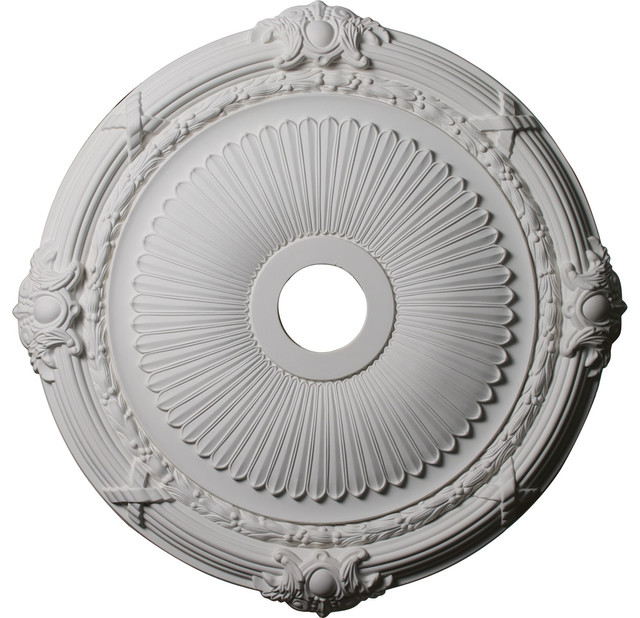 """Ekena Millwork - 27 1/2""""OD x 3 7/8""""ID x 2 1/4""""P Heaton Ceiling Medallion - View in Your Room ..."""