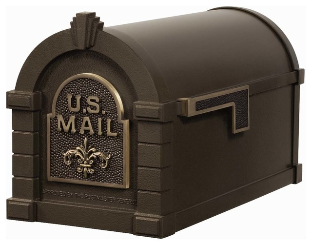 Gaines Mfg Keystone Curbside Bronze Mailbox Traditional
