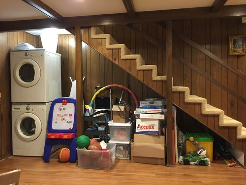 Cabinet under staircase