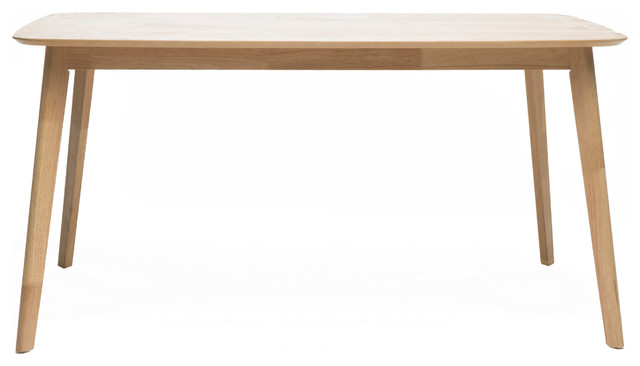 Anne Natural Oak Finish Wood Dining Table.