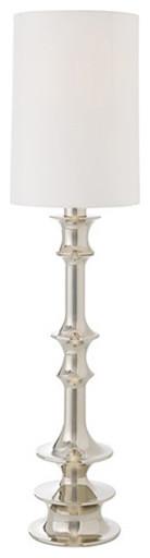 Waldo Polished Nickel Floor Lamp