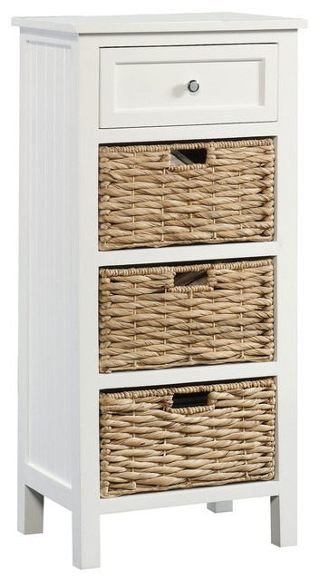 Cottage Road Cabinet With Baskets, White.