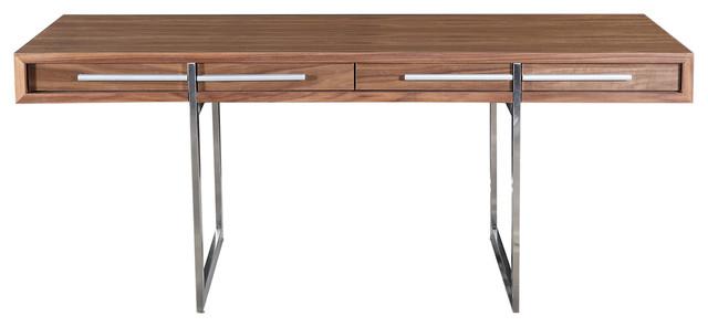 Nissen And Gehl-Style Midcentury Modern Ak-1340 Desk, Walnut Wood.