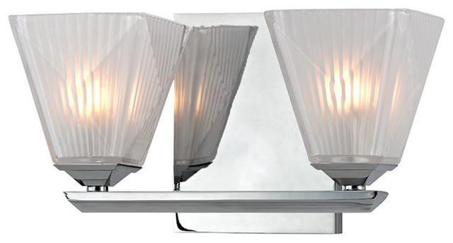Avalon Polished Chrome Bathroom Vanity Ceiling Lights: Hammond 2-Light Bath And Vanity
