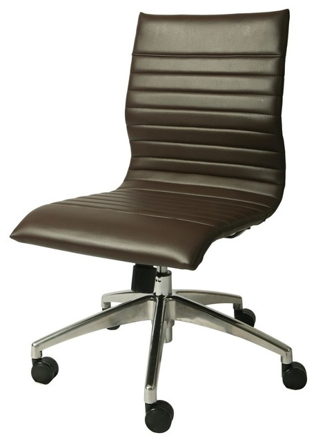 Armless Office Chairs pastel janette armless office chair in espresso - contemporary