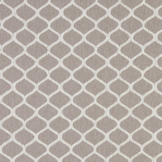 Palazzo Fabrics Grey and Off White Geometric Contemporary