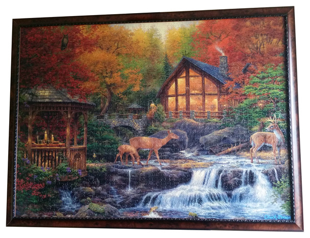 professionally framed clementoni s 3000 piece autumn puzzle wall art