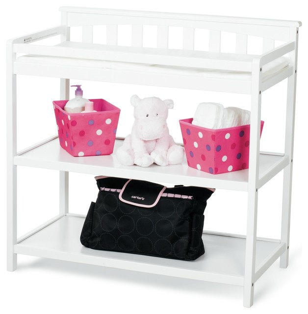 Child Craft Flat Top Dressing Table Matte White