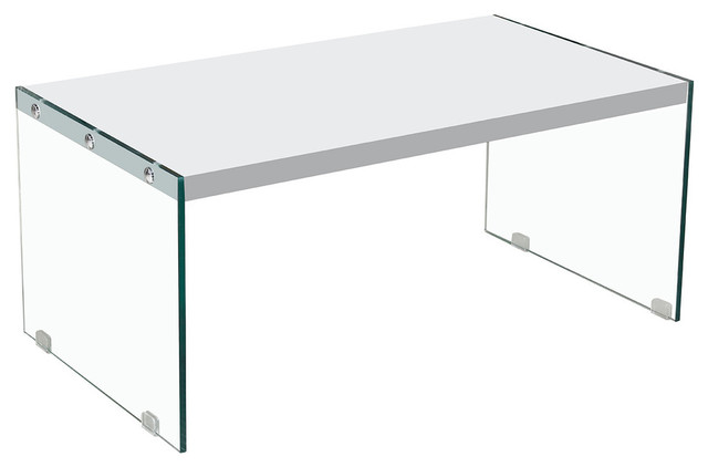 Glass Coffee Table With White Legs 10