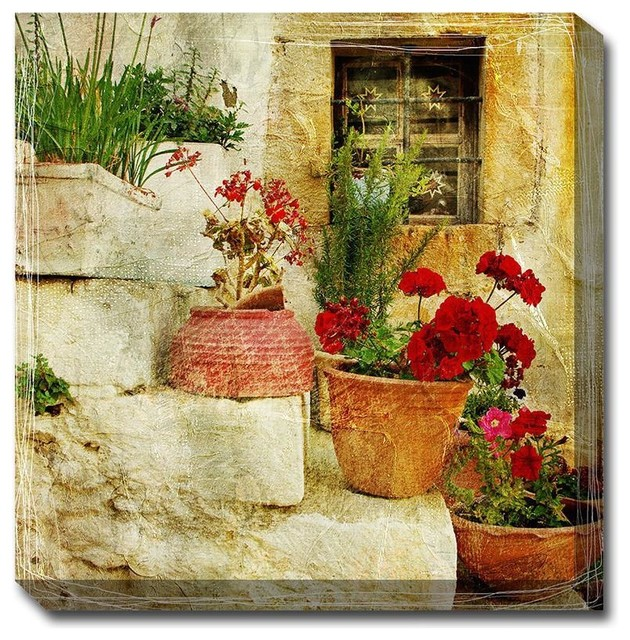 Colorful Outdoor Wall Art Canvas Pattern - All About Wallart ...