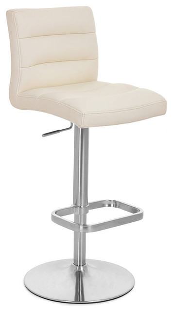 Lush Adjustable Height Swivel Armless Bar Stool