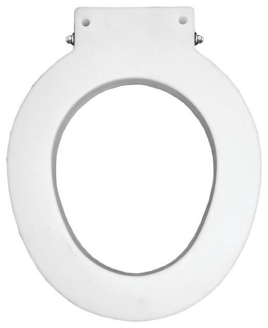 bemis 4lr 000 medical assistance plastic round toilet seat white