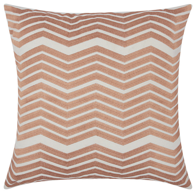 Mina Victory Luminecence Thick Chevron Throw Pillow Contemporary Interesting Rose Gold Decorative Pillows